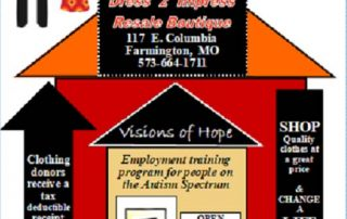 infograph about shopping through Visions of Hope